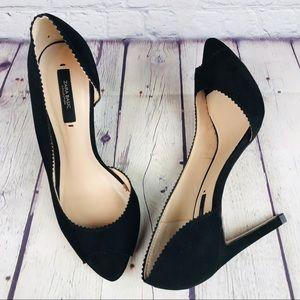 Zara Basic Black Suede Heels